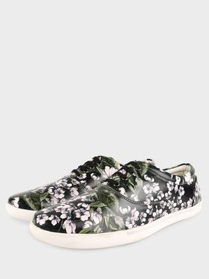 KOOVS Floral Print Lace-Up Sneakers