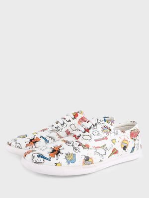 KOOVS Badge Print Sneakers