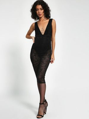 New Look Lace Insert Bodycon Dress
