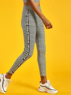 KOOVS Check Side Tape Leggings