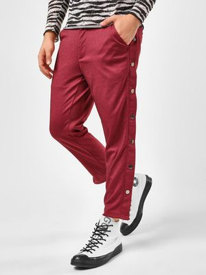 KOOVS Twill Interlock Popper Chinos