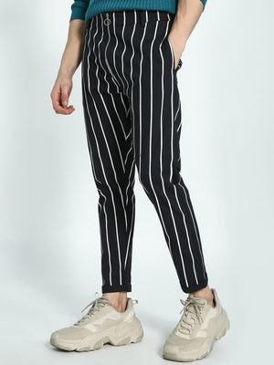 KOOVS Vertical Stripe Slim Chinos