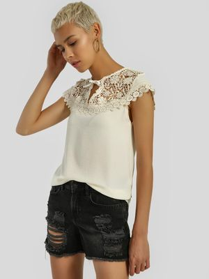 Privy League Lace Detail Blouse