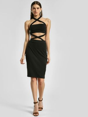 KOOVS Criss Cross Bodycon Dress
