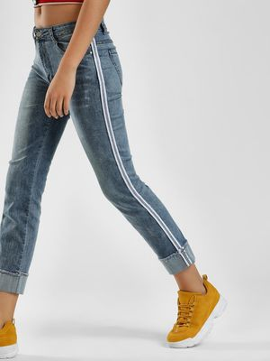 K Denim KOOVS Side Tape Skinny Jeans
