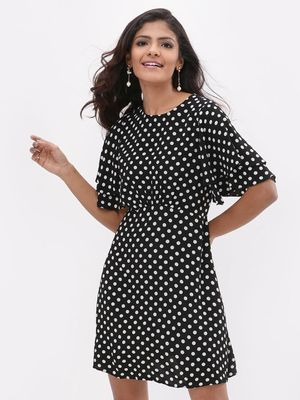 New Look Polka Dot Printed Dress