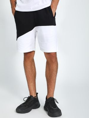 CHELSEA KING Cut & Sew Panel Shorts
