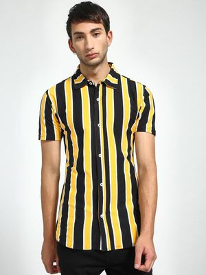 Garcon Yarn-Dyed Vertical Stripe Shirt