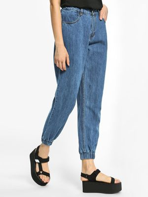 K Denim KOOVS Basic High-Waist Denim Joggers