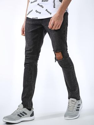 IMPACKT Stone Wash Ripped Skinny Jeans