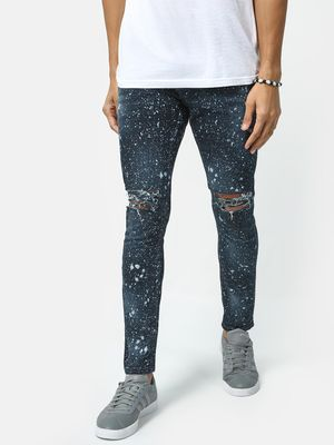 IMPACKT Paint Splatter Ripped Knee Jeans