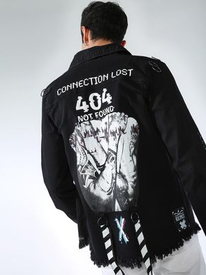 Kultprit Back Slogan Print Jacket