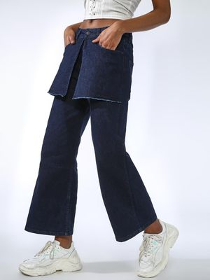 Kultprit Skirt Layer Bootcut Jeans