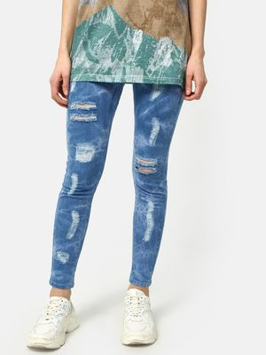 Kultprit Cloud Wash Distressed Skinny Jeans