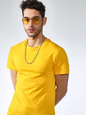 KOOVS Ribbed Muscle Fit T-Shirt