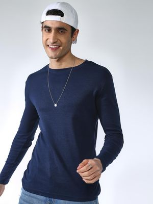 KOOVS Solid Long Sleeves Crew Neck T-shirt