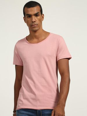 KOOVS Basic Scoop Neck T-Shirts