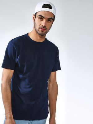 KOOVS Solid Crew Neck T-shirt