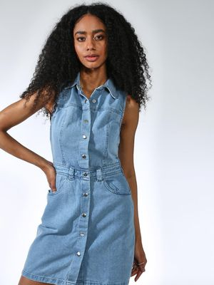 K Denim Basic Twin Pocket Dress
