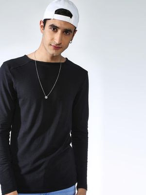 KOOVS Solid Square Neck T-shirt