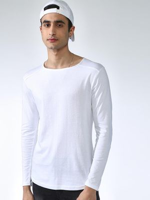 KOOVS Solid Long Sleeve T-Shirt