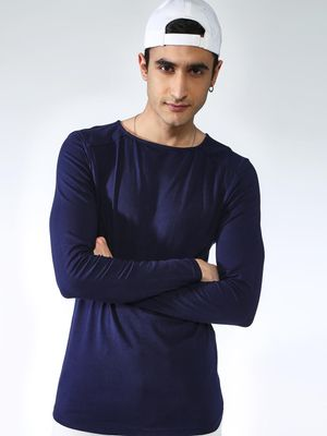 KOOVS Solid Long Sleeves T-shirt
