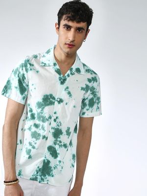 KOOVS Splatter Print Short Sleeves T-shirt