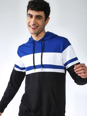 KOOVS Color Block Slim Fit Hoodie