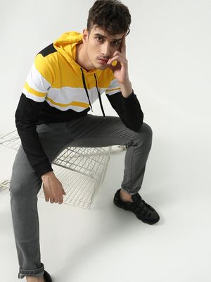KOOVS Color-Block Hooded Sweatshirt