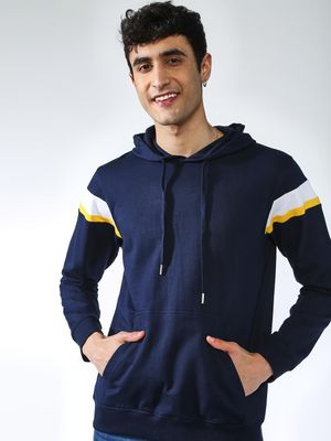 KOOVS Side Stripe Kangaroo Pocket Hoodie