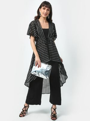 Oxolloxo Sequin Asymmetric Shrug