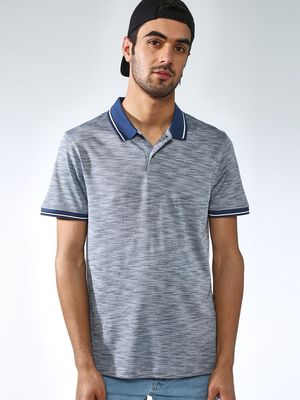 Blue Saint Textured Muscle Fit Polo Shirt