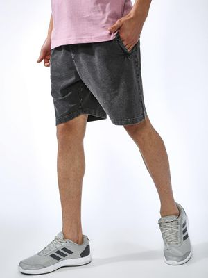 Blue Saint Acid Wash Slim Fit Shorts