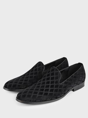 Griffin Quilted Suede Loafers