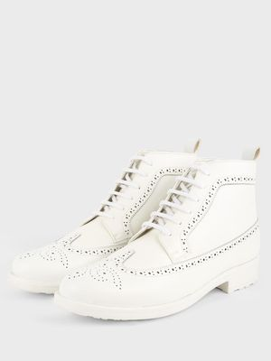 Griffin Brogue Lace-Up Boots