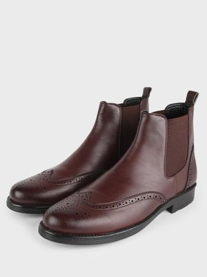 Griffin Brogue Chelsea Boots