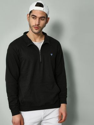 Blue Saint Solid Zip-Up Sweatshirt