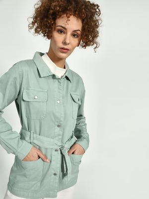 Blue Saint Belted Utility Jacket