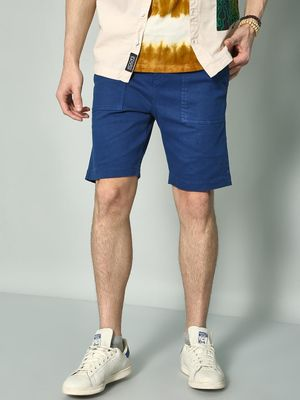 KOOVS Solid Slim Fit Shorts