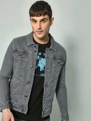 K Denim KOOVS Washed Twin Pocket Jacket