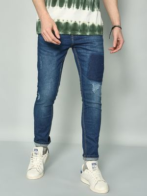 K Denim KOOVS Acid-Wash Distressed Jeans