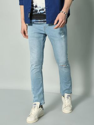 K Denim KOOVS Distressed Slim Fit Jeans