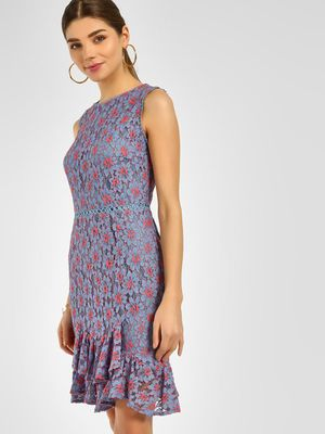 Cover Story Floral Lace Bodycon Dress