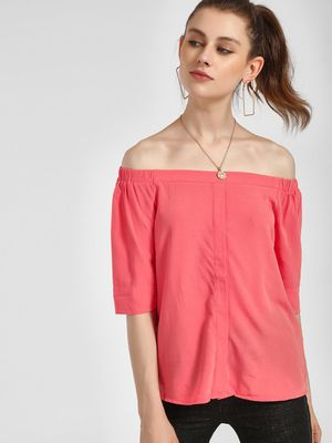 LC Waikiki Concealed Placket Off-Shoulder Top