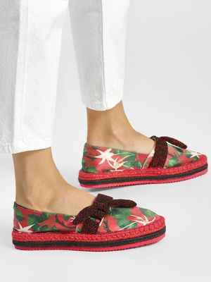 Shivan & Narresh X KOOVS Vineyard Print Bow Detail Espadrilles