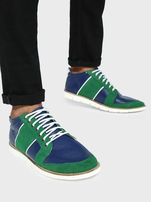 Kindred Multi-Panel Suede Lace-Up Sneakers