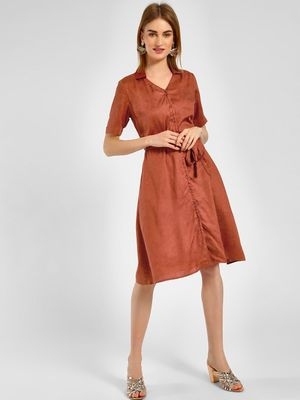 Cover Story V-Neck Shirt Midi Dress