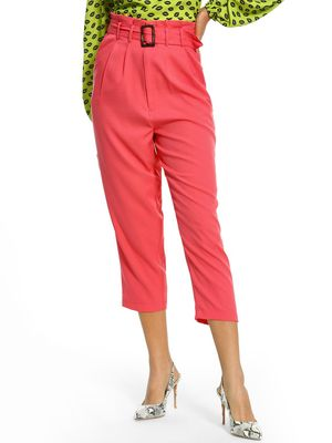 KOOVS Belted Waist Cropped Paperbag Trousers