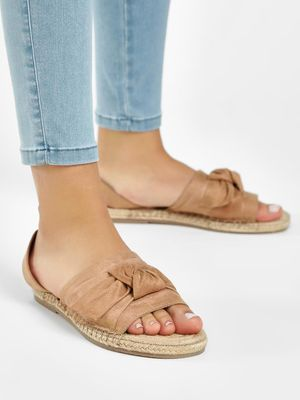 KOOVS Twisted Front Jute Espadrille Sandals