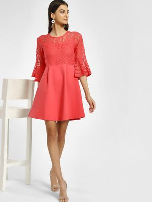 Cover Story Bell Sleeve Lace Skater Dress